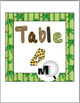 Jungle Safari Themed Table Numbers