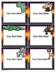 Jungle Safari Theme Classroom Labels Decorations Editable