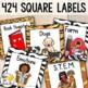 Jungle Theme Book Labels Editable!