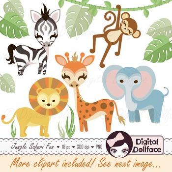 Jungle Safari Theme Clipart