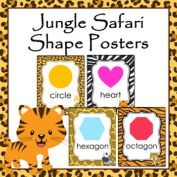 Jungle Safari Theme Shape Posters