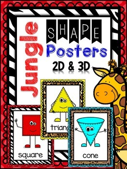 Jungle - Animal Print -Safari Themed 2D & 3D Shape Posters