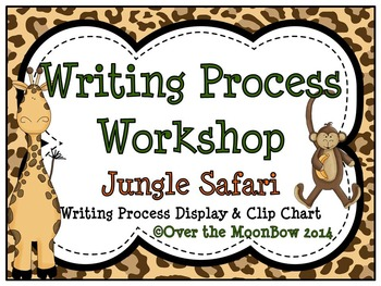 Jungle Safari Writing Process Workshop Displays & Clip Chart