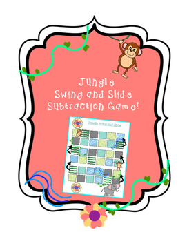 Jungle Swing and Slide Single and Double Digit Subtraction Game