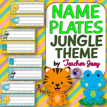 Jungle Theme Name Plates