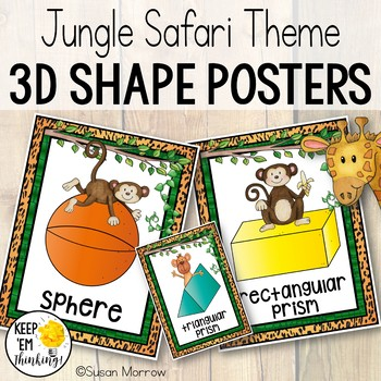 Jungle Theme 3D Shape Posters