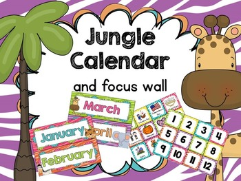 Jungle Theme Calendar