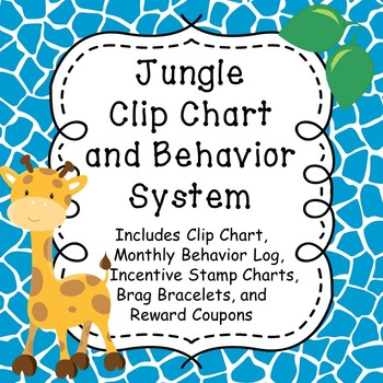 Jungle Theme Clip Chart and Behavior System