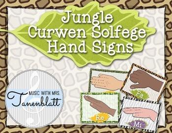 Jungle Theme Curwen Solfege Hand Signs