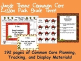 Jungle Theme Grade Three Common Core Lesson Planning Pack