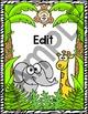 Jungle Theme Labels