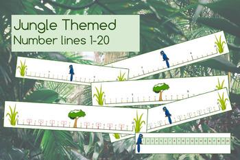 Jungle Theme Number Lines 1 - 20