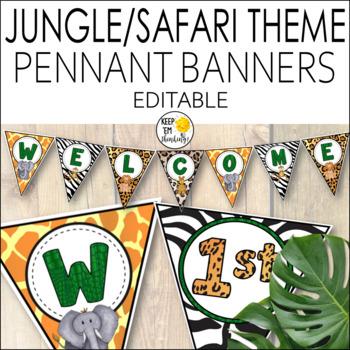 Jungle Theme Banners Editable!