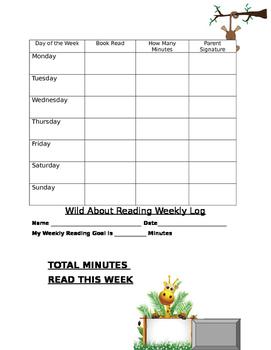 Jungle Theme Reading Log
