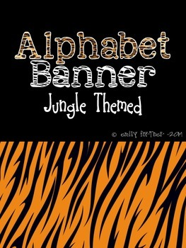 Jungle Themed Alphabet Banner