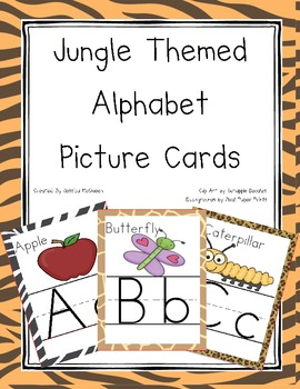 Jungle Themed Alphabet Cards