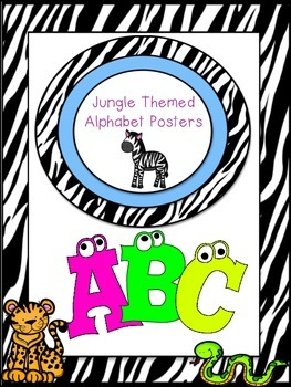 Jungle Themed Alphabet Posters