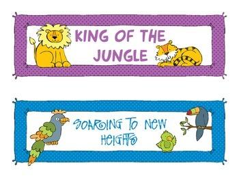 Jungle Themed Behavior BUNDLE