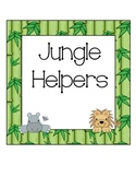 Jungle Themed Classroom Job Cards