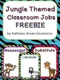 Jungle Themed Classroom Job FREEBIE