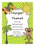 Jungle Themed Classroom Word Wall, Birthday, Classroom Job