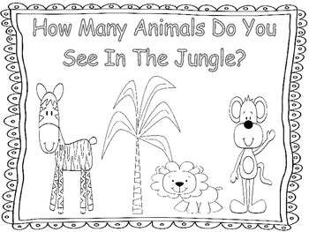 Jungle Themed Counting and Number Recognition Book