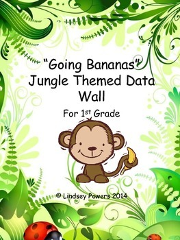 Jungle Themed Data Wall for 1st Grade