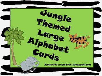 Jungle Themed Large Alphabet Cards