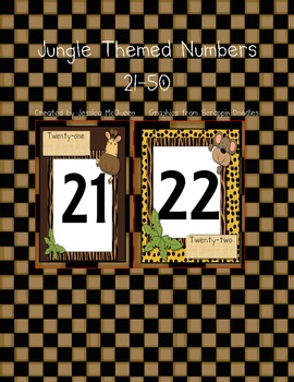 Jungle Themed Numbers