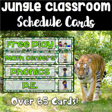 Jungle Theme Schedule Cards - Over 50 Cards *Now Editable*
