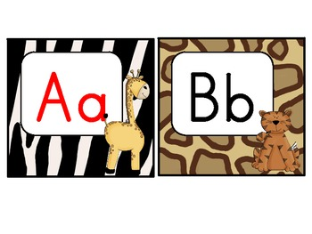 Word Wall Headers: Jungle Themed (red vowels)