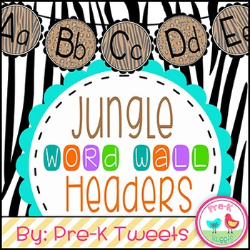 Jungle Word Wall Headers