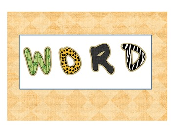 Jungle Word Wall Title