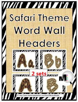 Word Wall Headers - Jungle Theme