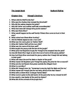 Jungle book questions
