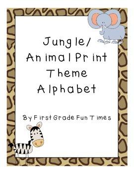 Jungle or Animal Print Theme Alphabet