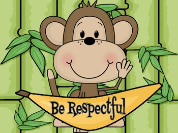 Jungle or Monkey theme PBIS rules posters
