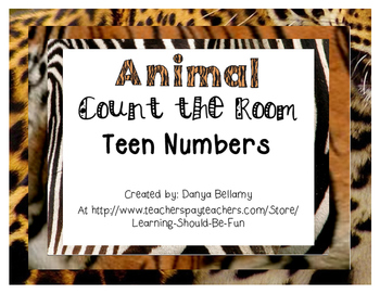Jungle or Zoo Animal Themed Teen Number Count the Room