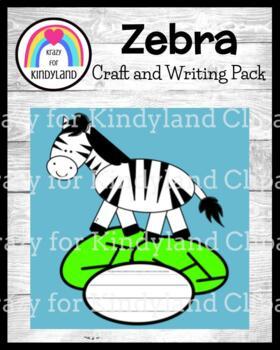 Zoo Craft and Writing: Zebra