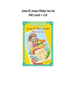 Junie B First Grader Aloha-ha-ha Comprehension Packet