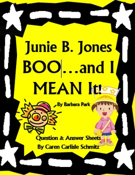 Junie B., First Grader - Boo...and I MEAN It! Question and