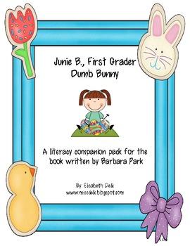 Junie B., First Grader Dumb Bunny {Literacy Companion Pack}