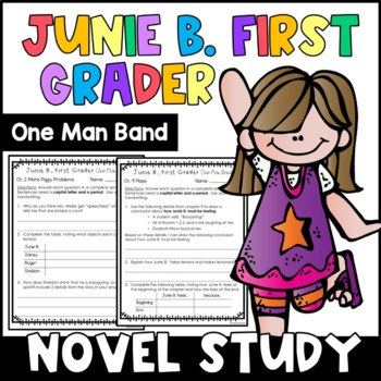 Junie B., First Grader One Man Band: Complete Unit of Read