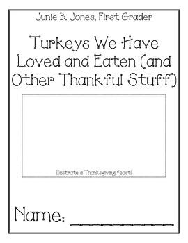 Junie B., First Grader, Turkeys We Have Eaten... Comprehen