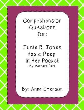 Junie B. Jones Has a Peep in Her Pocket Comprehension Questions