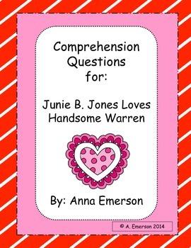 Junie B. Jones Loves Handsome Warren Comprehension Questions