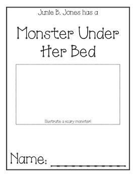 Junie B. Jones Monster Under Her Bed Comprehension Packet