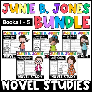 Junie B. Jones BUNDLE: Reading Responses for Junie B. Books 1-5