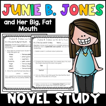 Junie B. Jones and Her Big Fat Mouth: Complete Unit of Rea