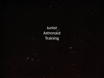 Junior Astronaut Training - Constellations Lesson